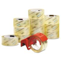 """Scotch 3750 Commercial Performance Packaging Tape, 1.88"""" x 54.6yds, Clear, 12/Pack MMM375012DP3"""