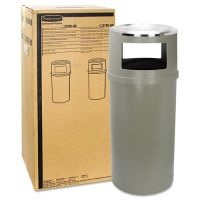 Rubbermaid Commercial Ash/Trash Classic Container w/o Doors, Round, 25gal, Beige RCP818288BEI