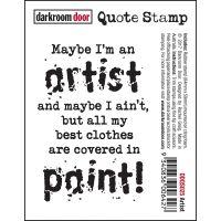 """Darkroom Door Quote Cling Stamp 3""""x2"""" NOTM077945"""
