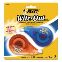 "BIC Wite-Out EZ Correct Correction Tape, Non-Refillable, 1/6"" x 472"", 2/Pack BICWOTAPP21"