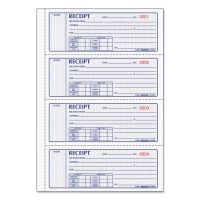Rediform Money Receipt Book, 7 x 2 3/4, Carbonless Triplicate, 100 Sets RED8L808R