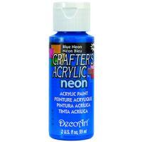 Deco Art Crafter's Acrylic Blue Neon Acrylic Paint NOTM436997