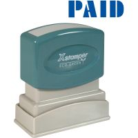Xstamper Blue PAID Title Stamp XST1335