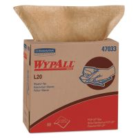 WypAll* L20 Towels, POP-UP Box, 2-Ply, 9 1/10 x 16 4/5, Brown, 88/Box, 10 Boxes/Carton KCC47033