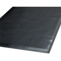 Guardian Clean Step Outdoor Rubber Scraper Mat, Polypropylene, 48 x 72, Black MLL14040600