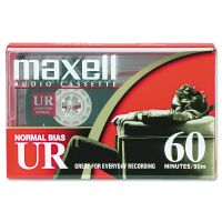Maxell Dictation & Audio Cassette, Normal Bias, 60 Minutes (30 x 2) MAX109010