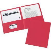 Avery Two-Pocket Folder, 40-Sheet Capacity, Red, 25/Box AVE47989