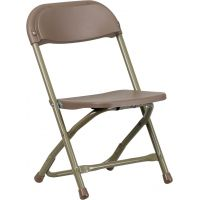 Flash Furniture Kids Brown Plastic Folding Chair FHFYKIDBNGG