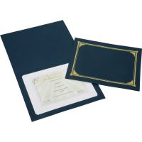 SKILCRAFT Gold Foil Cover Document Holders NSN5195771