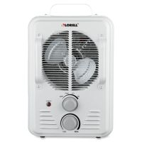 Lorell Portable Ceramic Heater Fan LLR99842
