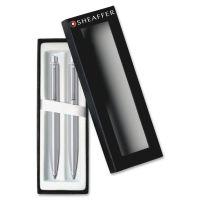 Cross Sheaffer Chrome Barrel Pen/Pencil Set CROE932351
