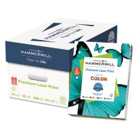 Hammermill Laser Print 3-Hole Punched Office Paper, 98 Brightness, 24 lb, 8 1/2 x 11, White, 500 Sheets/Ream HAM107681