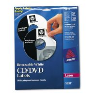 Avery Laser CD Labels, Matte White, 50/Pack AVE5931