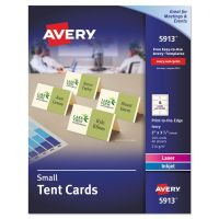 Avery Small Tent Card, Ivory, 2 x 3 1/2, 4 Cards/Sheet, 160/Box AVE5913