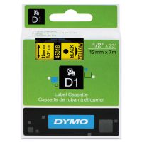 "DYMO D1 High-Performance Polyester Removable Label Tape, 1/2"" x 23 ft, Yellow DYM45018"