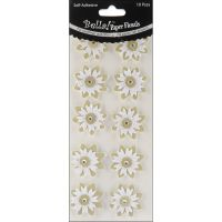 Bella! Wedding Glittered Self-Adhesive Paper Florals 10/Pkg NOTM298173