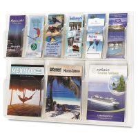 Safco Reveal Clear Literature Displays, Nine Compartments, 30w x 2d x 22-1/2h, Clear SAF5605CL