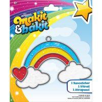 Makit & Bakit Rainbow With Clouds Suncatcher Kit NOTM413176