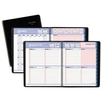 AT-A-GLANCE QuickNotes Weekly/Monthly Appointment Book, 8 x 9 7/8, Black/Pink, 2019 AAG76PN0105
