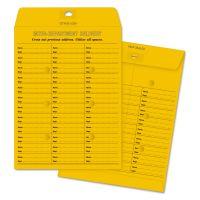 Quality Park Brown Kraft Redi Tac Box Style Interoffice Envelope, 10 x 13, 100/Box QUA63666