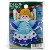 Angel Blue Ornament Felt Applique Kit NOTM261056