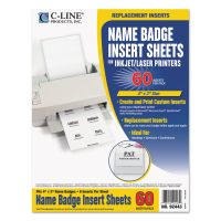 C-Line Name Badge Inserts, 4 x 3, White, 60/Pack CLI92443