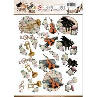 Find It Amy Design Sounds Of Music Punchout Sheet NOTM416720