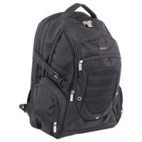 "bugatti Ryan Computer BackPack, 19"" x 4"" x 12"", Nylon, Black BUGBKP110"