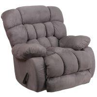 Flash Furniture Contemporary Softsuede Graphite Microfiber Rocker Recliner FHFWM9200531GG