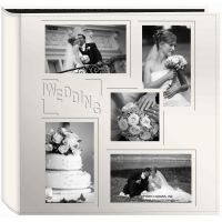 "Sewn Embossed Collage Frame 5-Up Photo Album 12""X12""  NOTM489106"
