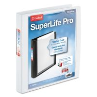 """Cardinal SuperLife Pro Easy-Open ClearVue Locking 3-Ring View Binder, 1"""" Capacity, Slant-D Ring, White CRD54652"""