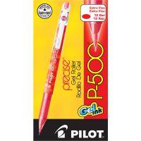Pilot P-500 Precise Gel Ink Roller Ball Stick Pen, Red Ink, .5mm, Dozen PIL38602