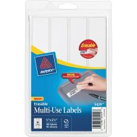 Avery Erasable ID Labels, 7/8 x 2-7/8, White, 80/Pack AVE5429