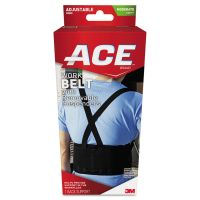 ACE Work Belt with Removable Suspenders, One Size Adjustable, Black MMM208605