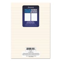 Filofax Notebook Refill, Ruled, 8 1/4 x 5 13/16, Cream, 32 Sheets/Pack REDB152008U
