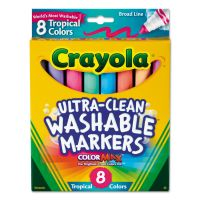 Crayola Washable Markers, Conical Point, Tropical Colors, 8/Set BIN587816