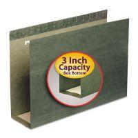 Smead Three Inch Capacity Box Bottom Hanging File Folders, Legal, Green, 25/Box SMD64379