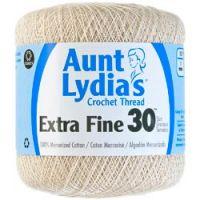 Aunt Lydia's Extra Fine 30 Crochet Thread - Natural NOTM295402