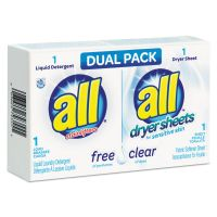 All Free Clear HE Liquid Laundry Detergent/Dryer Sheet Dual Vend Pack, 100/Ctn VEN2979355