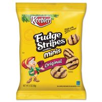 Keebler Mini Cookies, Fudge Stripes, 2oz Snack Pack, 8/Box KEB21771