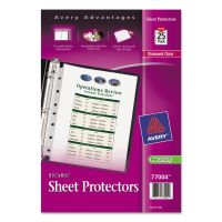 Avery Top Load Sheet Protector, 8 1/2 x 5 1/2, Heavy Gauge, Clear, 25/Pack AVE77004