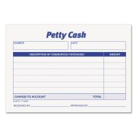 TOPS Received of Petty Cash Slips, 3 1/2 x 5, 50/Pad, 12/Pack TOP3008