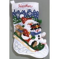 Christmas Fun Stocking Felt Applique Kit NOTM257007