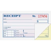 Adams Money/Rent 2-Part Receipt Book ABFDC2501