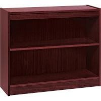 Lorell Panel End 2-Shelf Hardwood Veneer Bookcase LLR60070