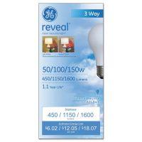GE Three-Way Incandescent Globe Bulb, 50/100/150 Watts GEL97785