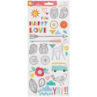 "Amy Tan Oh Happy Life Stickers 6""X12"" 2/Pkg NOTM425934"