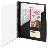 Smead Clear Front Poly Report Cover With Tang Fasteners, 8-1/2 x 11, Black, 5/Pack SMD86010