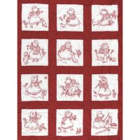 Jack Dempsey Stamped White Nursery Quilt Blocks NOTM234562