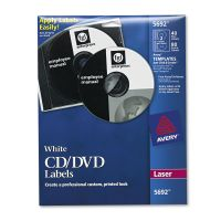 Avery Laser CD Labels, Matte White, 40/Pack AVE5692
